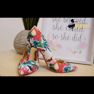 Jessica Simpson Floral Heels-SZ 8 1/2-M1-0D